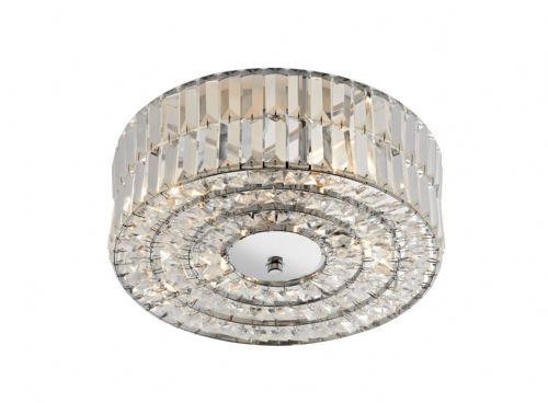 Errol 4-light Polished Chrome Flush Ceiling Light (828734) ERR5250